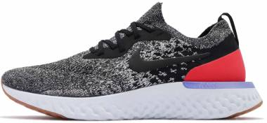 Nike Epic React Flyknit - Schwarz Black Black White Red Orbit 006 (AQ0067006)