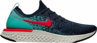 Nike Epic React Flyknit - College Navy/Hyper Jade/Sail/Red Orbit