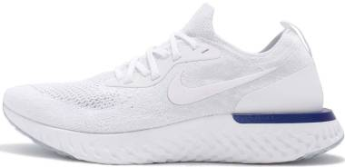 Nike Epic React Flyknit - White Racer Blue 100 (AQ0067100)
