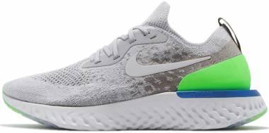 Nike Epic React Flyknit - Wolf Grey/Lime Blast
