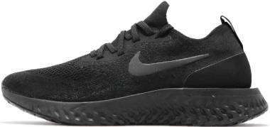 Nike Epic React Flyknit - black racer blue 004