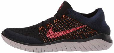 Nike Free RN Flyknit 2018 - Black Flash Crimson Orange Peel (942838068)