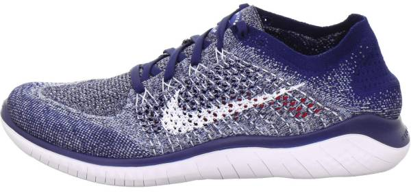 Nike Free RN Flyknit 2018 - Multicolore Blue Void White Blue Tint Red Orbit 402 (942838402)