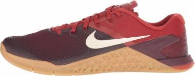 Nike Metcon 4 - Violet Burgundy Crush Lt Cream Dune Red Gum Lt Brown 626 (AH7453626)