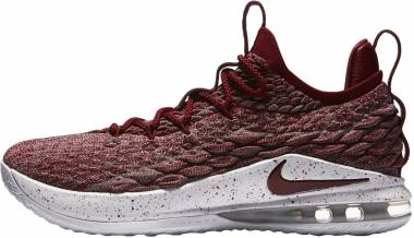 04434b8f89a9 Nike LeBron 15 Low Taupe Grey Team Red-vast Grey Men