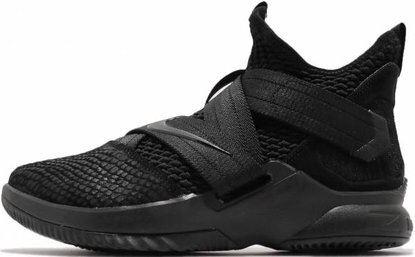 sports shoes 58b9f 04db3 Nike LeBron Soldier 12 Black Black