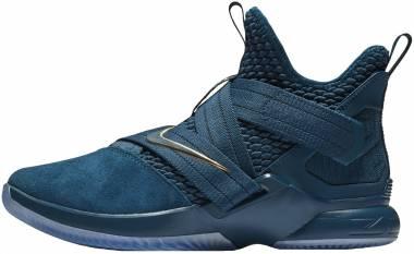 Nike LeBron Soldier 12 - Blue Force/Metallic Gold-aegean Storm