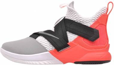 Nike LeBron Soldier 12 - White/Dark Grey-flash Crimson (AO4054102)