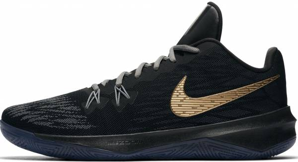 Nike Zoom Evidence II - Black Black Metallic Gold Cool Grey 090 (908976090)