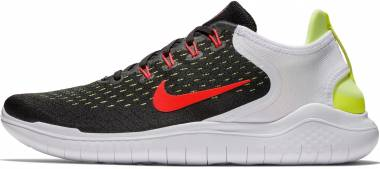 3d88f6372d50b Nike Free RN 2018 Black Bright Crimson Volt White Men