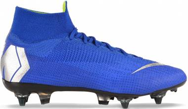 Nike Mercurial Superfly 360 Elite SG-PRO Anti-Clog - Racer Blue Black Metallic Silver (AH7366400)