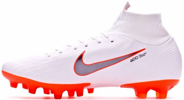 Nike Mercurial Superfly VI Pro AG-PRO - White White Chrome Total O 107 (AH7367107)