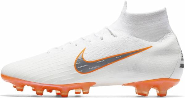 Nike Mercurial Superfly 360 Elite AG-PRO white metallic cool grey total  orange 3bfe69082a