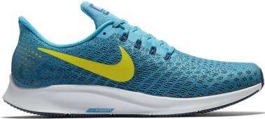 Nike Air Zoom Pegasus 35 - Blue Orbit Bright Citron Blue Void