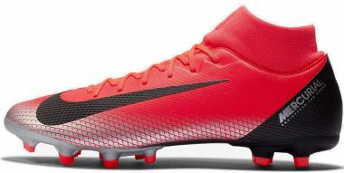 Nike Mercurial Superfly VI Academy CR7 Multi-ground - Multicolour Bright Crimson Black Chrome Dark Grey 600 (AJ3541600)