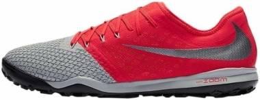 Nike Zoom Hypervenom III Pro Turf - Mehrfarbig (Wolf Grey/Mtlc Dark Grey/Lt Crimson 001)