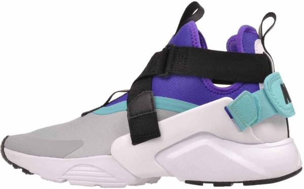 new products 37caa b0452 Nike Air Huarache City Wolf GreyWhiteFierce Purple