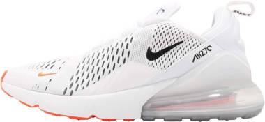 89bf4895db22 Nike Air Max 270 White Black Total Orange Men