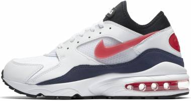 Nike Air Max 93 - White White Habanero Red Neutral Indigo Black 102 (306551102)