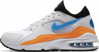 Nike Air Max 93 Bianco (White/Blue Nebula/Total Orange/Black 104) Men