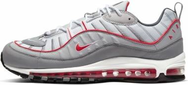 Nike Air Max 98 - Gris Partícula Track Red Iron Grey (CI3693001)