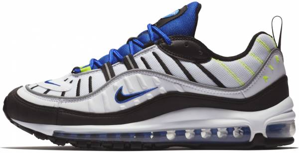 new concept 897c6 f0fd9 Nike Air Max 98 White, Black-racer Blue-volt