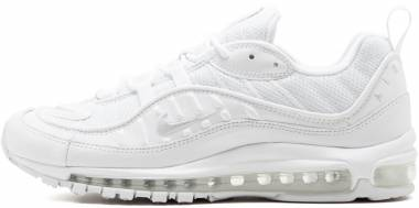 Nike Air Max 98 - Multicolour White Pure Platinum Black Reflective Silver 000 (640744106)