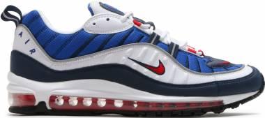 Nike Air Max 98 white, university red - obsidan Men