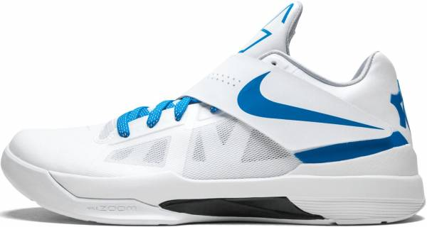 separation shoes e27d9 5b3c7 Nike KD 4 White, Photo Blue-wolf Grey