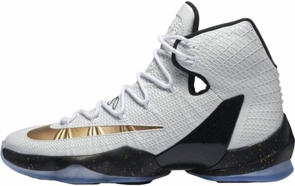 official photos 54a71 bc99e Nike LeBron 13 Elite Blanco (White  Metallic Gold-black)