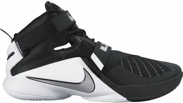 Nike LeBron Soldier 9 - Black/White/Anthracite/Metallic Silver (749498001)