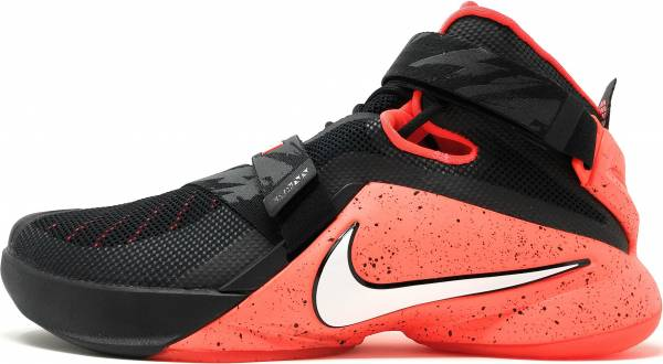 Nike LeBron Soldier 9 - Black White Bright Crimson 016