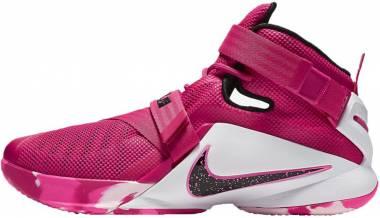 f3e23d46301 Nike LeBron Soldier 9 Vivid Pink White Pink Pow Metallic Silver Men