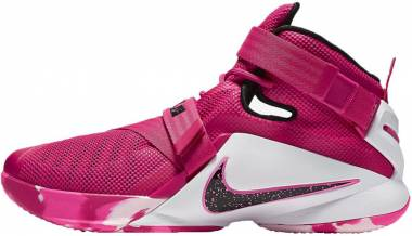 Nike LeBron Soldier 9 Vivid Pink/White/Pink Pow/Metallic Silver Men