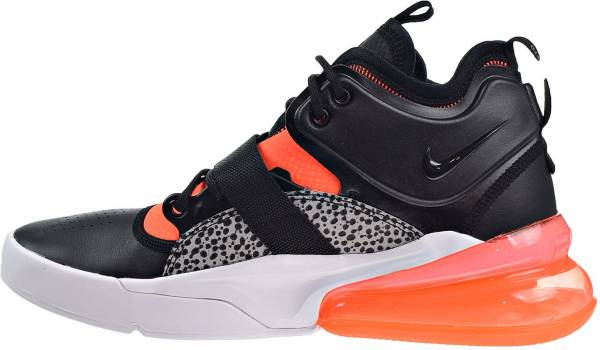 pretty nice 06e62 16c3b Nike Air Force 270 Black Hyper Crimson Wolf Grey 004