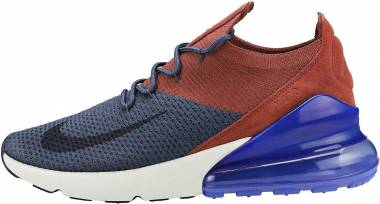 Nike Air Max 270 Flyknit - Multicolore Thunder Blue Gridiron Red Sepia 402
