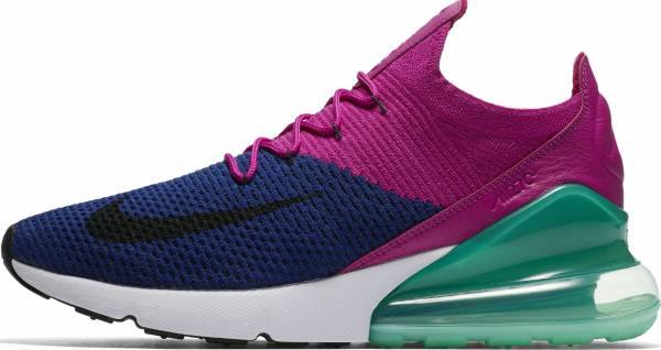 sports shoes adbcf e08c0 Nike Air Max 270 Flyknit Deep Royal Blue, Black