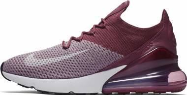 Nike Air Max 270 Flyknit - Plum Fog/White/Vintage Wine/Total Crimson