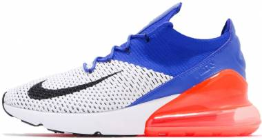 Nike Air Max 270 Flyknit - white racer blue 101