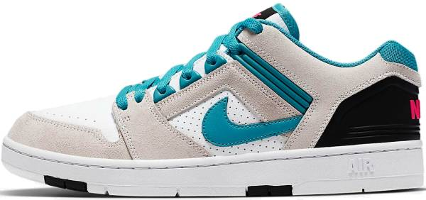 Nike SB Air Force II Low - White Teal Nebula Black 101 (AO0300101)