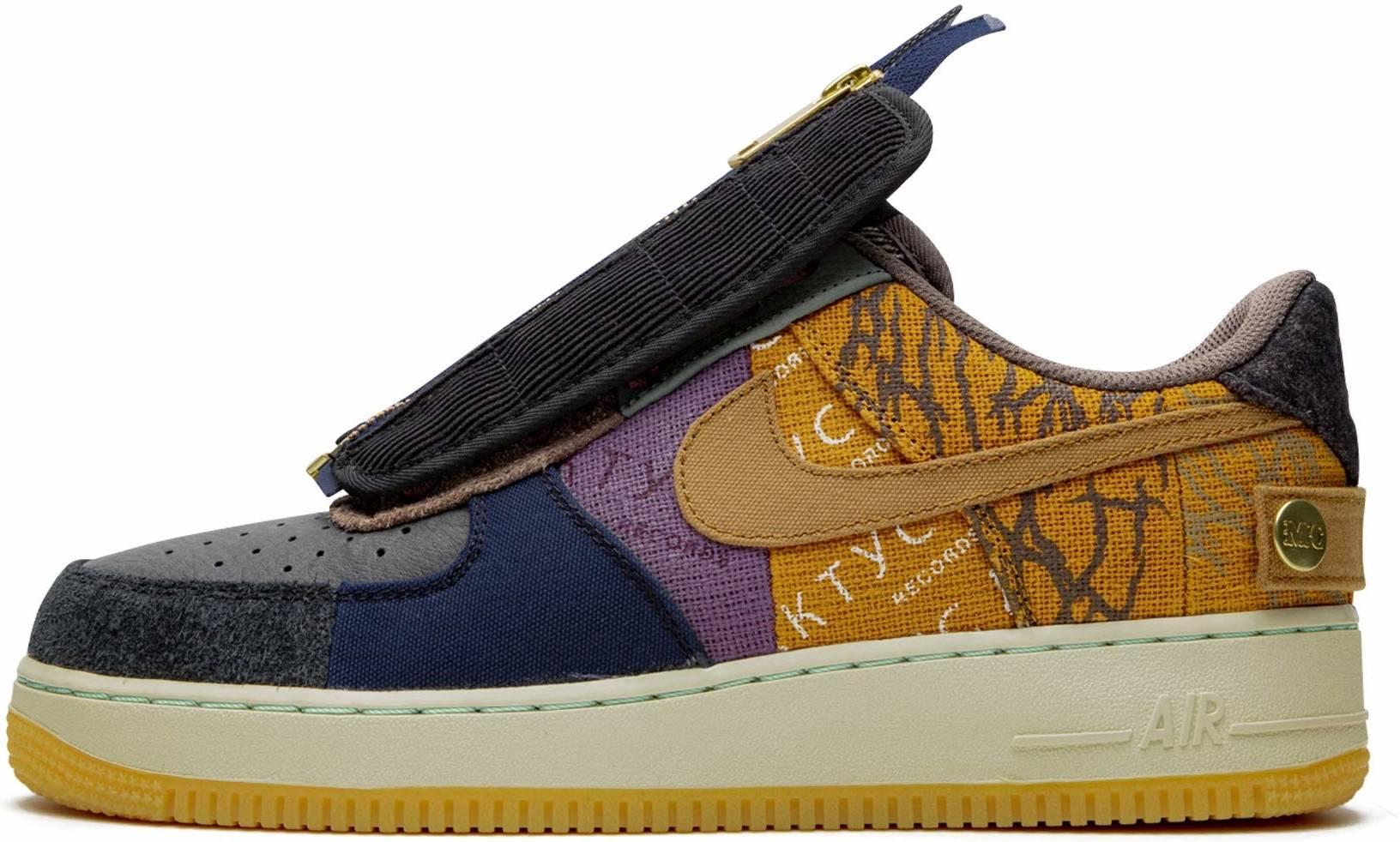 Nike Air Force 1 Travis Scott sneakers in brown white | RunRepeat
