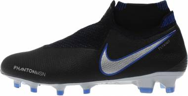 Nike Phantom Vision Elite DF Firm Ground - Black/Racer Blue/Metallic Silver (AO3262004)