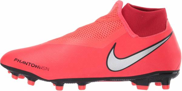 Nike Phantom Vision Academy Dynamic Fit MG - Multicolour Bright Crimson Metallic Silver 600