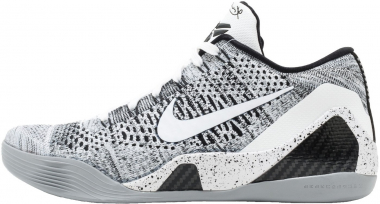 Nike Kobe 9 Elite Low - White Black Wolf Grey