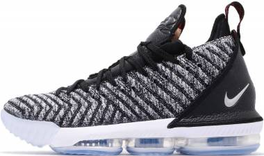 brand new c469b 7881c Nike LeBron 16 black, metallic silver-white Men