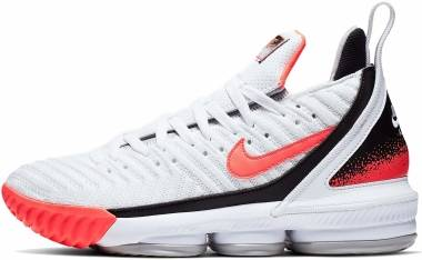 Nike LeBron 16 - WHITE/HOT LAVA-FLAT SILVER