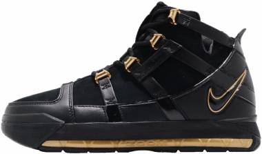 Nike Lebron 3 Retro - Black Black Metallic Gold