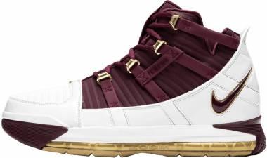 Nike Lebron 3 Retro White, Deep Maroon Men