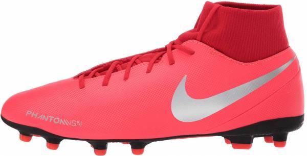 Nike Phantom Vision Club Dynamic Fit Multi-Ground - Silver Bright Crimson Metallic Silver 600 (AJ6959600)