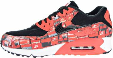 Nike Air Max 90 Atmos - Black Bright Crimson White